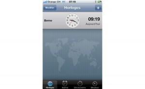 Problème d'heure sur l'iPhone: deux heures de décalage. Etrange.