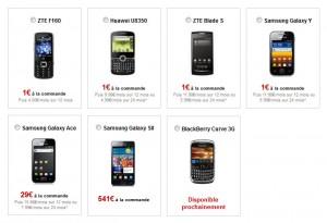 Les téléphones de Free Mobile: une offre restreinte.