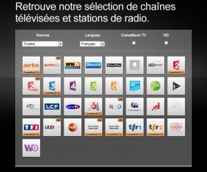Les chaînes en français de Sunrise TV.