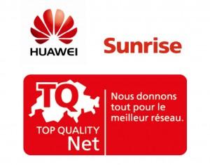 Les ambitions de Sunrise et de Huawei ont accouché d'un logo spécifique.