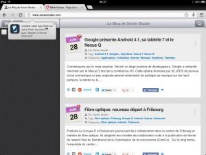 Chrome pour iPad...