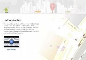 Avec Android, Google Maps fonctionne dans certains bâtiments en Suisse.