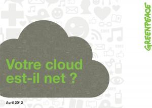 Le nuage, gros consommateur d'énergie.