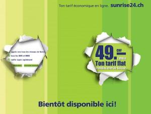 L'offre en ligne Sunrise24.ch à 49 francs par mois.