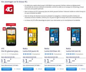 LTE: le site spécial de Swisscom.