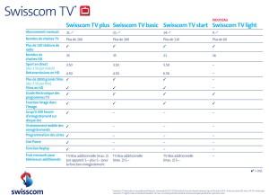 L'offre Swisscom TV.