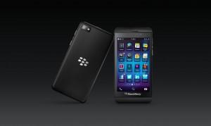 Le BlackBerry Z10 avec le nouveau système BlackBerry 10, BB10.