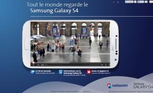 Samsung Galaxy S4: la vidéo de Swisscom qui buzze sur internet!.