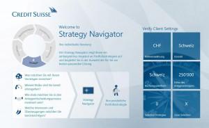 L'application du Credit Suisse sur Windows 8.