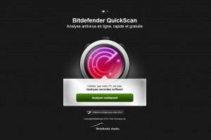 L'outil de scan en ligne QuickScan.