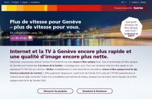 Sunrise attaque Genève sur le marché de la fibre optique.