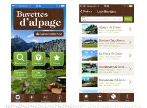 Les buvettes d'alpage sur votre smartphone.