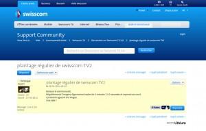 Un des nombreux témoignages sur le Forum TV de Swisscom.