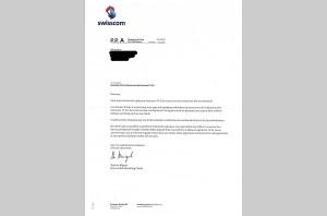 Problèmes de Swisscom TV: la lettre d'excuses.
