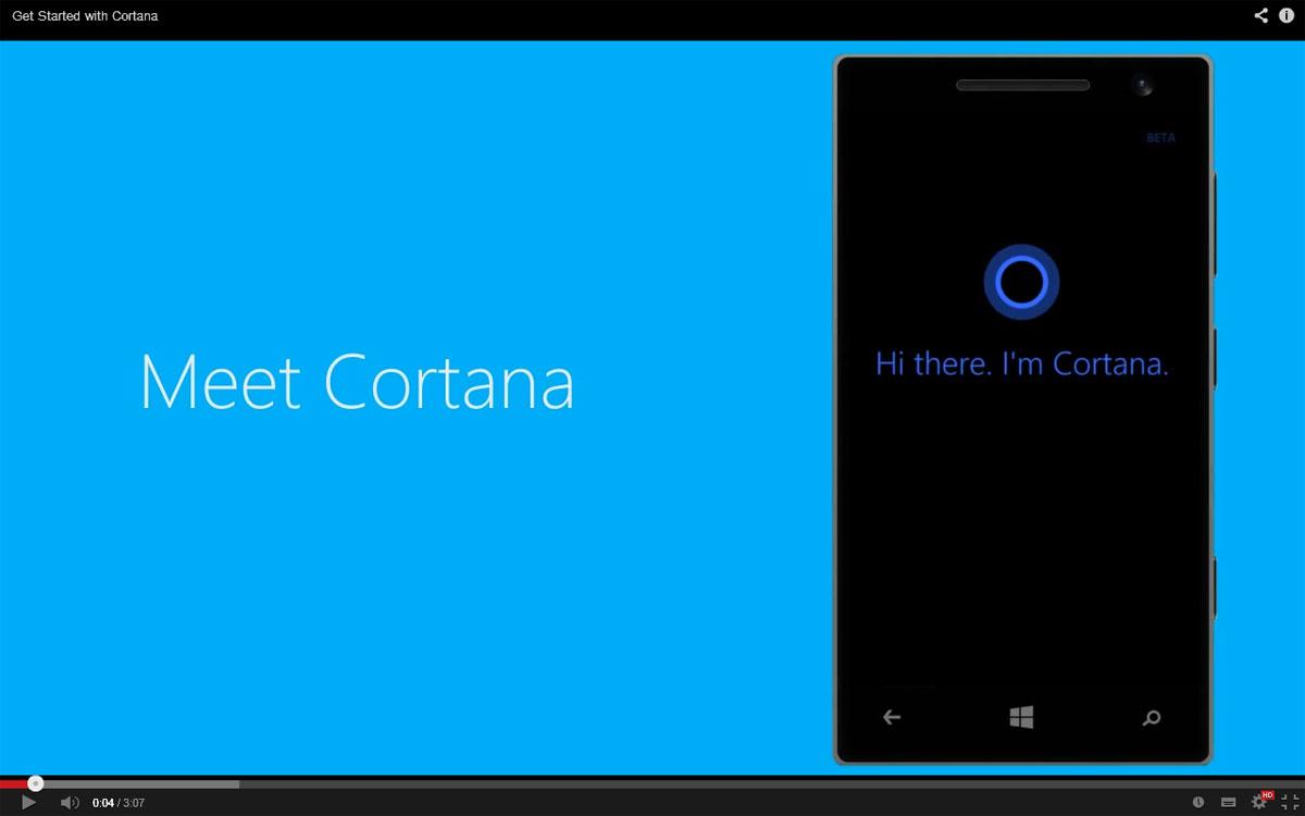Windows phone 8 1 microsoft fait la promo de cortana