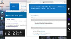 Windows 10. première mise à jour, nouvelle capture d'écran.