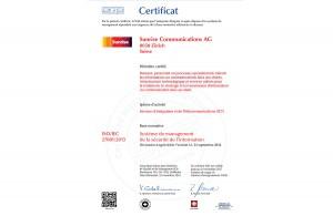 ISO 27001: Sunrise peut garantir une certaine sécurité de l'information!