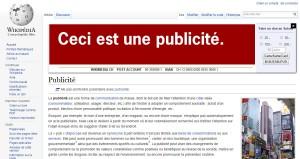 Une campagne publiée sur Wikipedia pour soutenir Wikimedia.