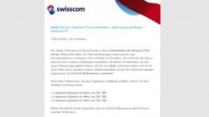 Swisscom TV 2.0 proche de de la perfection?