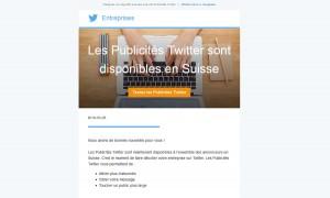 Twitter a lancé sa régie publicitaire en Suisse.
